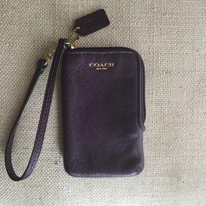 Coach Wristlet/Card Holder Wallet  - leather